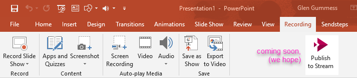 Powerpoint Recording Ribbon